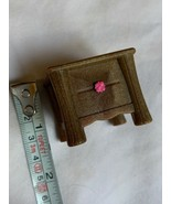Dollhouse Miniature Small Dresser Hard Plastic Brown And pink Kids Toy Used - $13.33