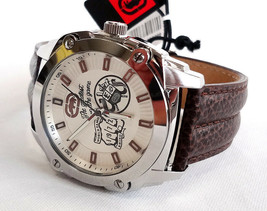 Rhino By Marc Ecko Men's Watch Stainless Steel Back/Leather Band #E8M024MV - New - $65.00