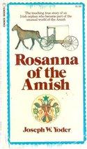 Rosanna of the Amish [Mass Market Paperback] Joseph W. Yoder