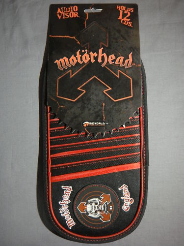 MOTORHEAD 27 SNAGGLETOOTH LOGO DISC HOLDER AUDIO CD CAR VISOR NEW