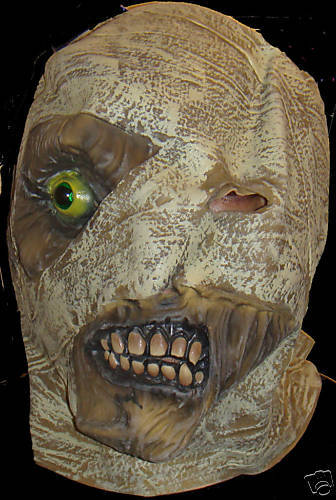 MUMMY UNDER WRAPS MASK HALLOWEEN LATEX
