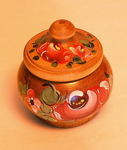 Small wooden trinket box - turned from maple wood - $14.60
