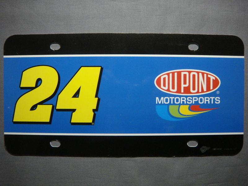 NASCAR DUPONT JEFF GORDON #24 LICENSE PLATE ART NEW