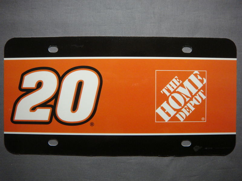 NASCAR HOME DEPOT TONY STEWART #20 LICENSE PLATE ART
