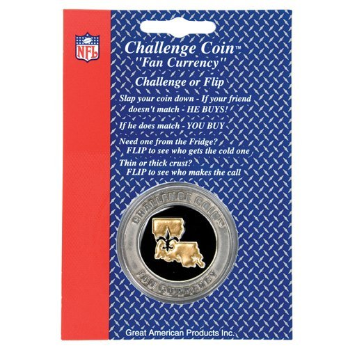 NEW ORLEANS SAINTS CHALLENGE COIN FAN CURRENCY NFL NEW