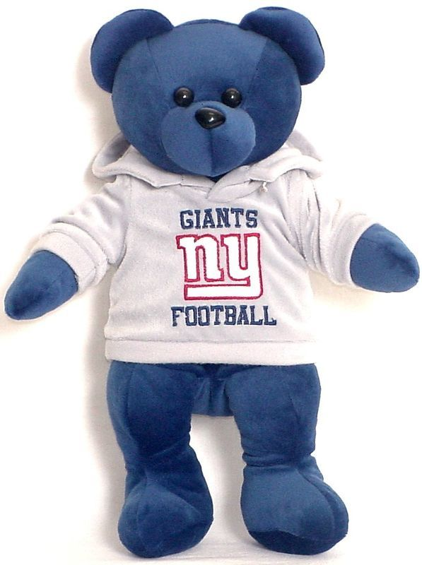 "NEW YORK GIANTS 14"" PLUSH HOODIE TEDDY BEAR NEW NFL"