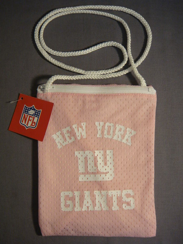 NEW YORK GIANTS FOOTBALL PINK JESERY PURSE NEW NFL