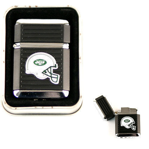 NEW YORK JETS BLACK TORCH LIGHTER WITH CASE NFL NEW