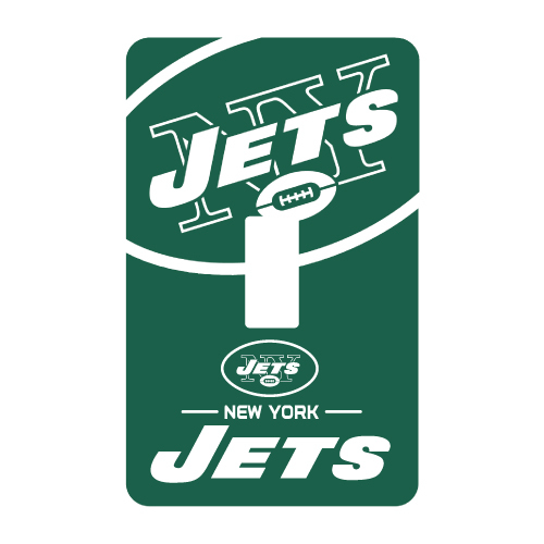 NEW YORK JETS PEEL N STICK SINGLE SWITCH PLATE COVER