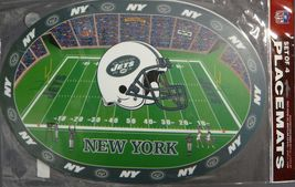 New York Jets Vinyl Table Placemats Set Of 4 Nfl New - $4.95