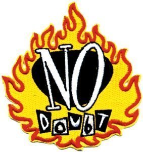 NO DOUBT FLAME LOGO ROCK & ROLL PATCH NEW