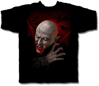 NOSFERATU HALLOWEEN T-SHIRT NETHERWORLD TEE LARGE