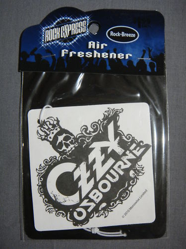 OZZY OSBOURNE LOGO ROCK-BREEZE AIR FRESHENER NEW