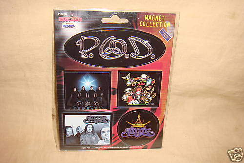 P.O.D. ROCK MAGNETS ROCK N ROLL MAGNETS SET OF 5 NEW