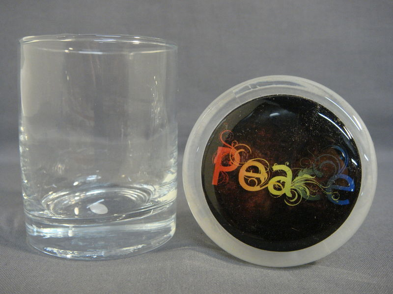 PEACE LOGO ODORLESS AIR TIGHT MEDICAL GLASS JAR CONTAINER NUG JUG NEW