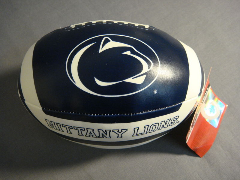 "PENN STATE NITTANY LIONS 6"" SOFTEE VINYL FOOTBALL NEW NCAA"