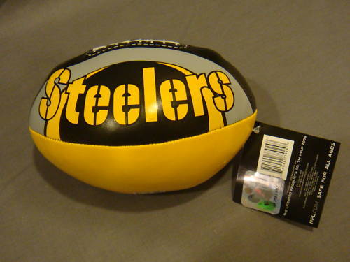 "PITTSBURGH STEELERS FOOTBALL 6"" SOFTEE FOOTBALL NFL NEW"
