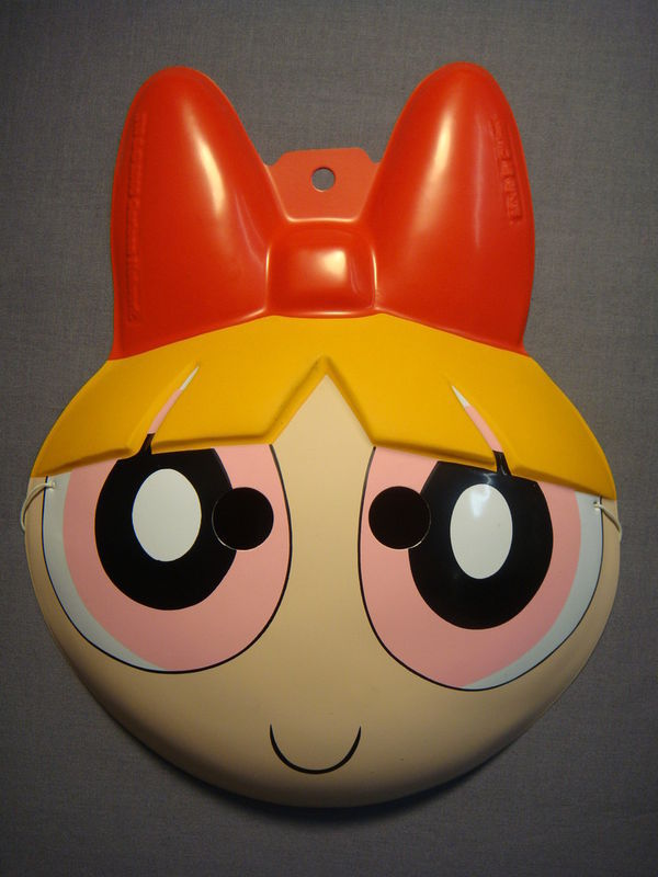 THE POWERPUFF GIRLS BLOSSOM HALLOWEEN MASK PVC NEW