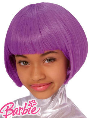 PURPLE WIG DRESS-UP BARBIE HIT GIRL KID SIZE PURPLE WIG