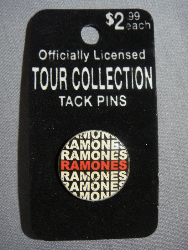 THE RAMONES REPEATED LOGO TOUR COLLECTION PIN NEW