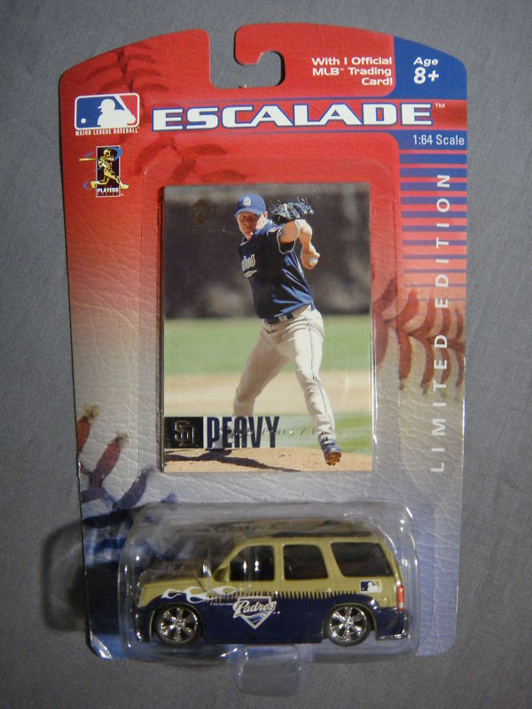 SAN DIEGO PADRES JAKE PEAVY ESCALADE W/ CARD MLB NEW