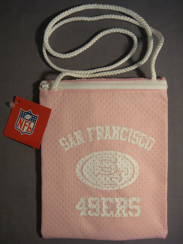 SAN FRANCISCO 49ERS FOOTBALL PINK JESERY PURSE NEW NFL