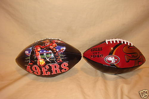 SAN FRANCISCO 49ERS FOOTBALL SOFT SIDED STANDARD SIZE