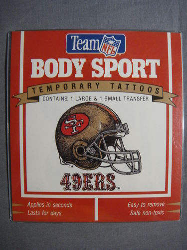 SAN FRANCISCO 49ERS TATTOOS TEMPORARY TATTOOS NFL NEW