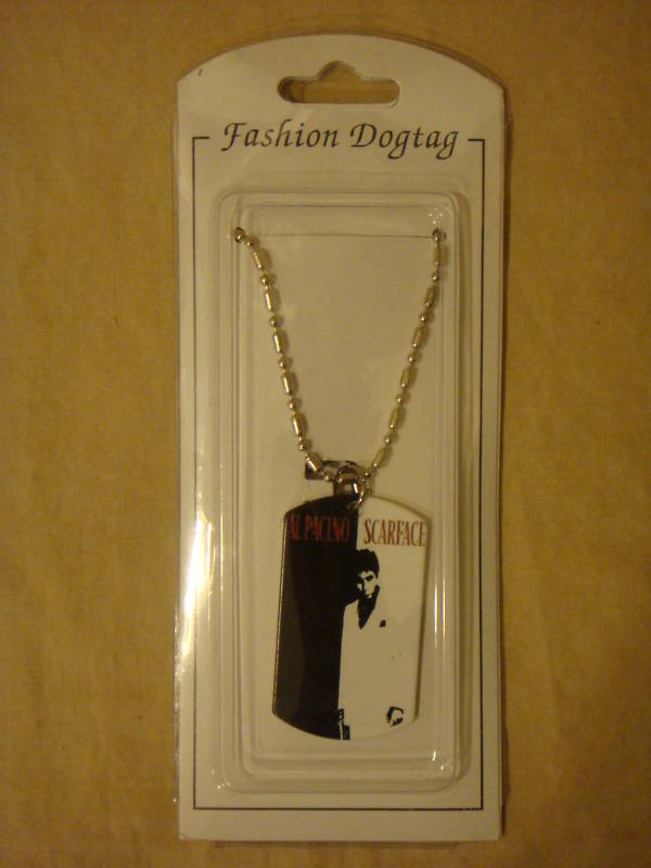 SCARFACE AL PACINO DOG TAG NECKLACE NEW