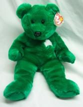 "Ty Beanie Buddy Soft Green Irish Clover Erin Teddy Bear 13"" Stuffed Animal New - $19.80"