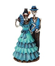 Day of the Dead Celebration Skeleton Couple Figurine 8 inch - $37.61