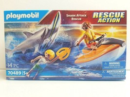 Playmobil Shark Attack Rescue Action 14 Pc 70489 Kid Activity Toy BDay G... - $31.67
