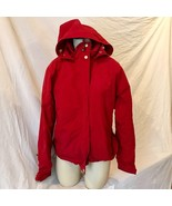 LL Bean Womens Hooded Light Jacket Parka Red Size S - $24.74