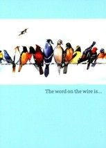 Word on The Wire - Birds - Tree Free Greeting Card - 11349 - $2.96