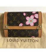BEAUTIFUL LOUIS VUITTON LOUIS VUITTON CHERRY BLOSSOM COIN CASE LADIES SMALL - $439.38