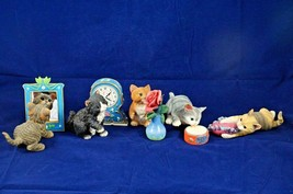 5 Danbury Mint The Five Senses Cats Resin Cat Kitten Figurines & Accesso... - $115.62