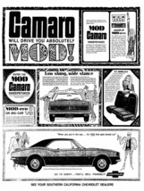 1967 CAMARO NEWS PAPER POSTER | 24 x 36 INCH | chevy | Ford | Dodge | cl... - $18.99