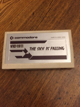 COMMODORE VIC 20 The Sky Is Falling tested paddle game cartridge Kaboom ... - $6.39