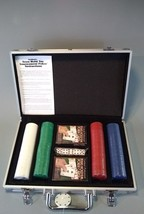 200 pc Texas Hold Em Poker Set In Aluminum Case Includes Cards, Chips an... - $23.75