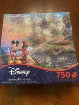 Disney & Thomas Kinkade: Mickey & Minnie Sweetheart Cove - New 750 Pc Puzzle - $23.38