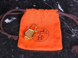 HERMES Authentic 1996 Limited Harp Cadena Padlock Bag Charm Gold Color Used - $319.99