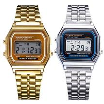 Fashion Men Women LED Digital Watch Clock Gold Silver Vintage Full Stain... - $26.10+