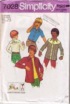 Vintage 1975 Simplicity Pattern 7028 BOYS' SHIRT Size 7 & 8 - Complete - $9.99