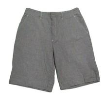 Tommy Hilfiger Bermuda Shorts ~ Sz 6 ~ Blue Plaid ~ Mid Length ~ Mid Rise - $14.84
