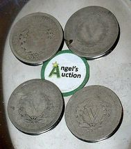 Liberty Head Nickel Five-Cent V Pieces 1889, 1900, 1901 and 1902 AA20-CNN2151 An image 9
