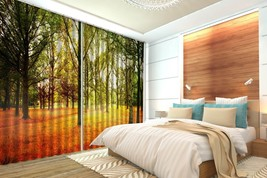 3D Fall Lawn Plant 01 Blockout Photo Curtain Print Curtains Drapes US Lemon - $177.64+