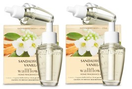 Lot of 4 Bath & Body Works Sandalwood Vanilla Wallflower Home Fragrance ... - $25.99