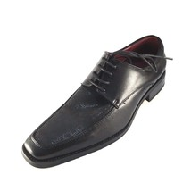 NXT N2727 Black Leather Lace Up Men's Dressy Shoes - $44.10