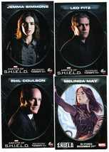 2015 ABC MARVEL CALENDAR AGENTS OF SHIELD PROMO CARD SET OF 4 FITZ MAY S... - $16.82