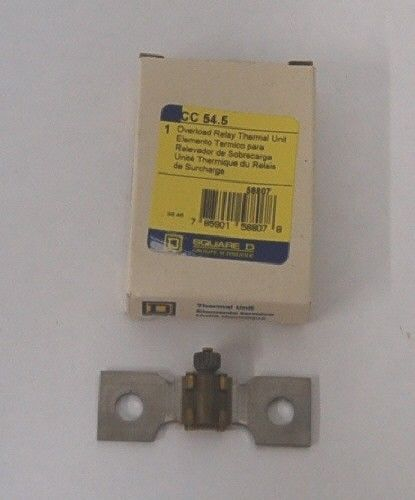 Square D CC 545 Over load Relay Thermal Unit USA Made